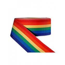 Rainbow Stripe Ribbon 3/8inch / 10mm wide 10m (T1532)