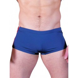 GBGB Santos Swim Boxer Swimwear Navy/Red Zipper (T2604)