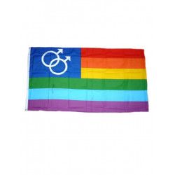 Rainbow Pride (Gay Men) Flag 90 x 150 cm (T2808)