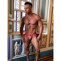 Danny Miami Lord Red Brief Underwear Multi (T5094)