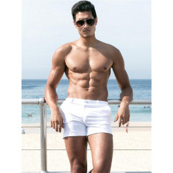 2Eros Bondi Bar Beach Swim Shorts White (T4505)