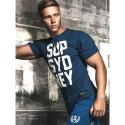 Supawear SUP SYD NEY T-Shirt Navy Marle