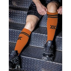 BoXer Football Sox One Size Orange/Black