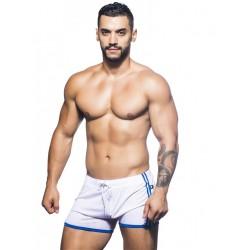 Andrew Christian Varsity Mesh Shorts White