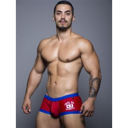 Andrew Christian Varsity Trunk Swimwear Low-Cut Red
