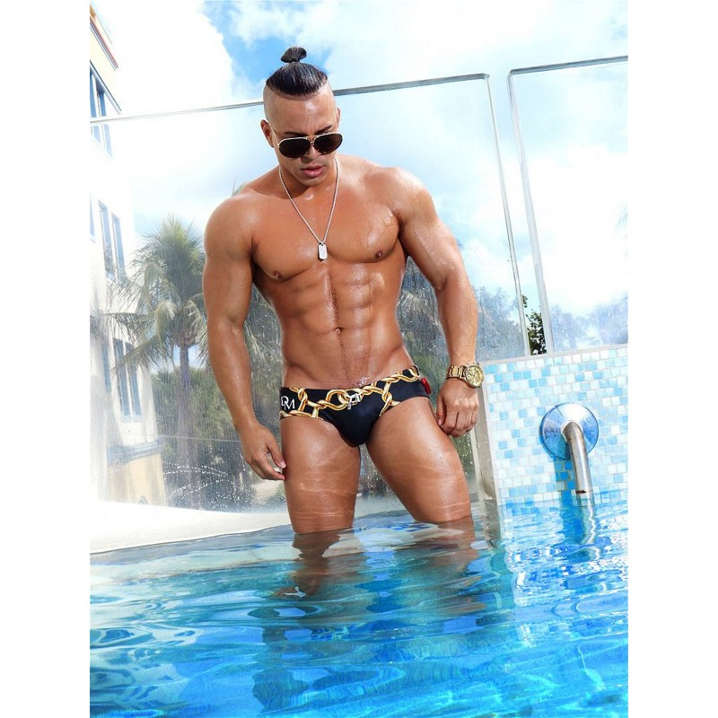 Danny Miami Links Dkini Brief Swimwear Multi (with inside gold foil print!) (T5766)