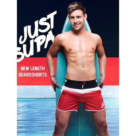 Supawear Just Supa Swimshorts Black/Red (T3117)