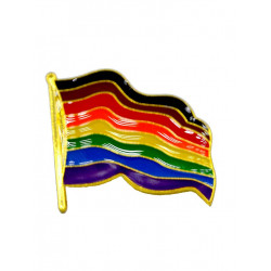 Pin Waving POC Rainbow Flag (T5843)