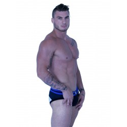 GB2 Gavin Brief Underwear Black/White/Royal (T6086)