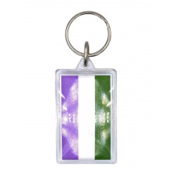 Gender Queer Flag Key Ring (T5152)