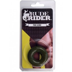 RudeRider Fat Stretchy Cock Ring Olive (T6153)