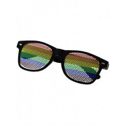 Rainbow Sunglasses Black (T6312)