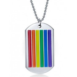 Rainbow Dog Tag Halskette / Necklace (T6306)