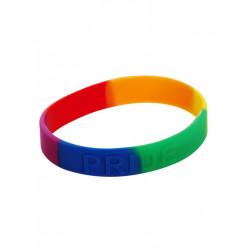 10 x Rainbow Pride Bracelet Silicone (T6327)
