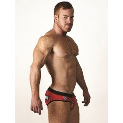 Mister B URBAN Sitges Swim Brief Red/Black (T7019)