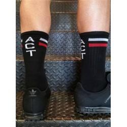 BoXer Skater Socks ACT One Size Black/White/Red (T6998)