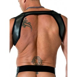 665 Leather Neoprene Slingshot Harness Black/Black (T3315)