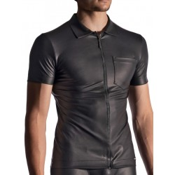 Manstore Zipped Shirt M510 T-Shirt Black (T7377)