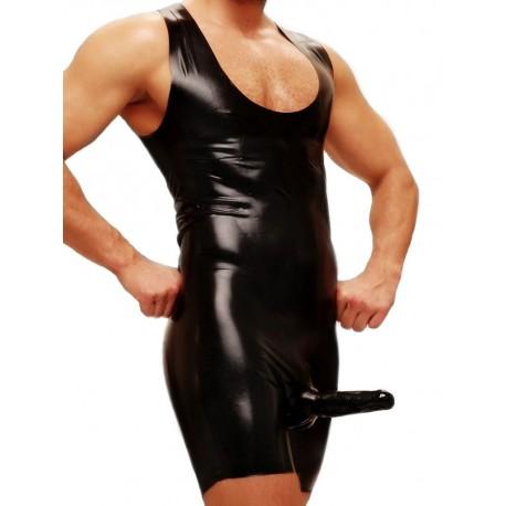Fetisso Body with Condom Underwear Black (T3565)