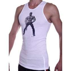Tom of Finland Master Tank Top (Euro Size) White (T3661)
