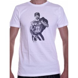 Tom of Finland Hot & Heavy T-Shirt (Euro Size) White (T3663)