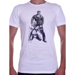 Tom of Finland Harness Duo T-Shirt (Euro Size) White (T3666)