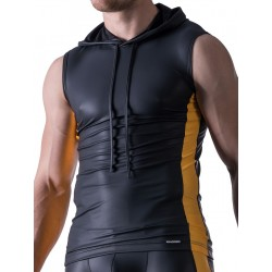 Manstore Hoody Tank Top M521 Black/Yellow (T3864)