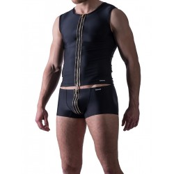 Manstore Zipped Vest M524 Underwear Black (T3875)