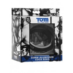 Tom of Finland Aluminum Cock Ring Black 60mm (T4283)