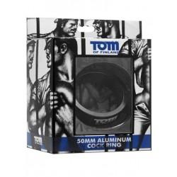 Tom of Finland Aluminum Cock Ring Black 50mm