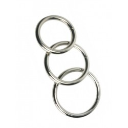 Master Series Trine Steel Ring Collection 3-Cockring-Set (S, M, L) (T4259)