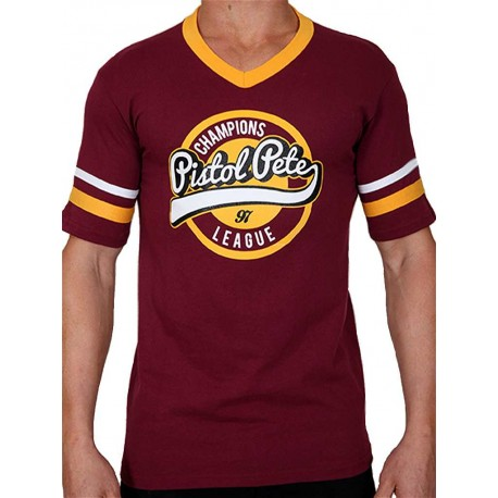 Pistol Pete Champions Short Sleeve Tee T-Shirt Red Wine (T4326)