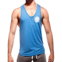Supawear Sports Club Singlet Tank Top Blue Marle (T2634)