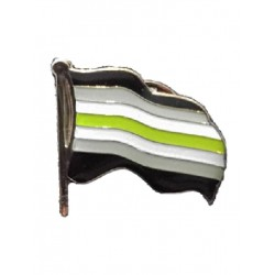 Pin Waving Agender Flag (T4751)