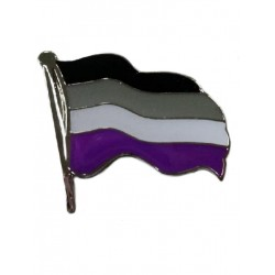 Pin Waving Asexual Flag (T4752)
