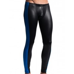 Manstore Tight Leggings M604 Underwear Black/Royal (T4767)