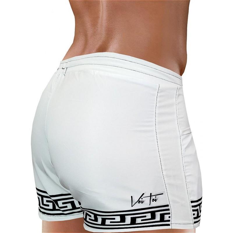 VoiToi Greek Beach Shorts White (T4874)