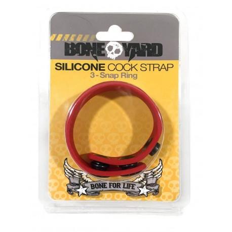 Bone Yard Silicone Cock Strap Red (T4928)