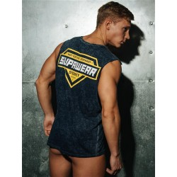 Supawear Racer Tank Top Navy Blue (T4922)