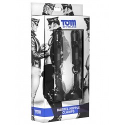 Tom of Finland Barrel Nipple Clamps Black