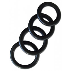 Thick Rubber Cockring 4-Ring-Set 40/45/50/55 mm (T0062U)