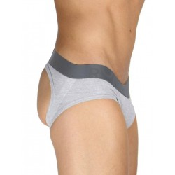 Rounderbum Jock Brief Underwear Grey
