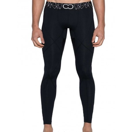 2Eros BLK Aktiv Compression Tights Leggings Black (T4197)