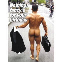 Nothing fancy for your birthday Greeting Card (M8168)
