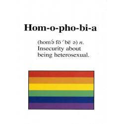 Hom-o-pho-bi-a Greeting Card (M8174)