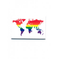 Rainbow World White Magnet (T5122)