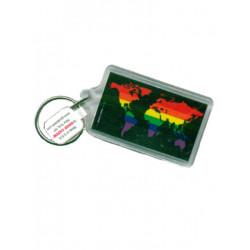 Rainbow World Black Key Ring (T5138)