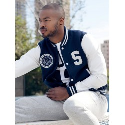 Supawear Sports Club Varsity Jacket Navy (T3755)