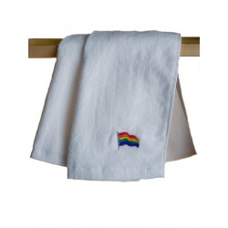 Rainbow Flay Gay Pride Gym Towel White 30x112 cm / 12x44 inch (T5246)