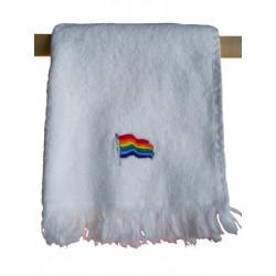 Rainbow Flag Towel/Handtuch White 28x43 cm / 11x17 inch (T5248)